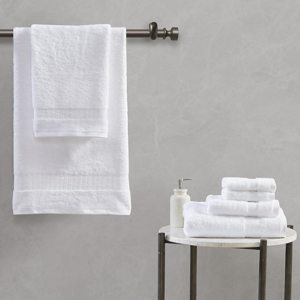 Madison Park Signature - Luxor 100% Egyptian Cotton 6 Piece Towel Set - White - 30 x 54