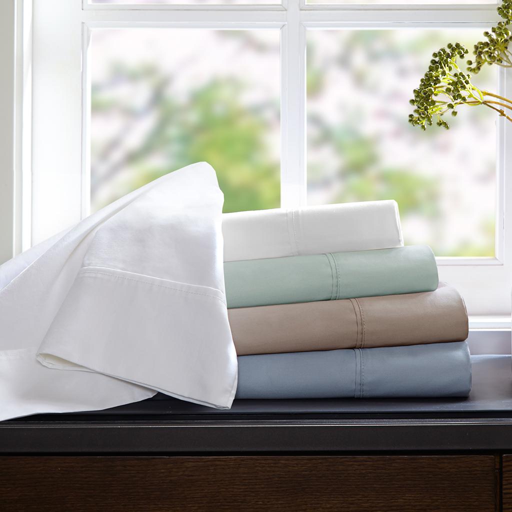 Sleep Philosophy - Wrinkle Warrior Sheet Set - White - Cal King