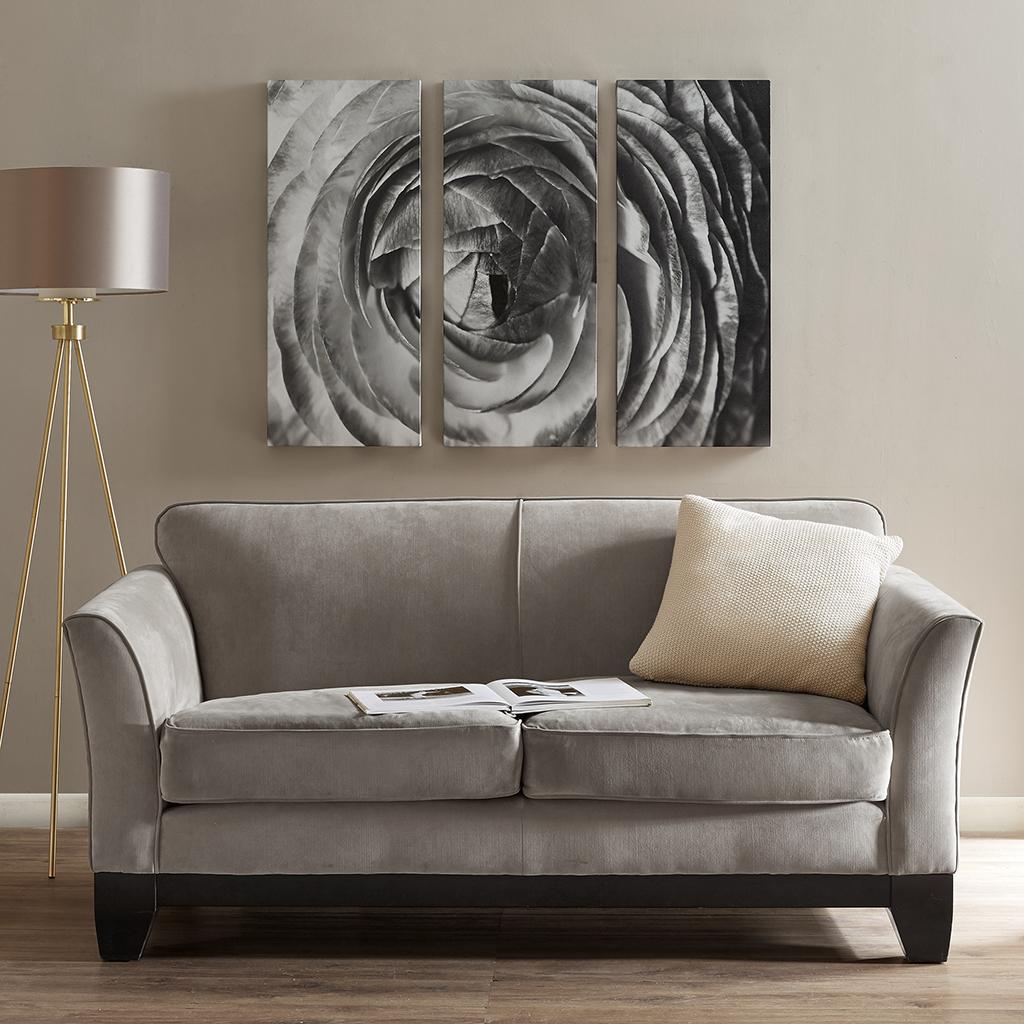 Madison Park - Compass Rose Roll Gel Coat Canvas 3 Piece Set - Black/White - See below