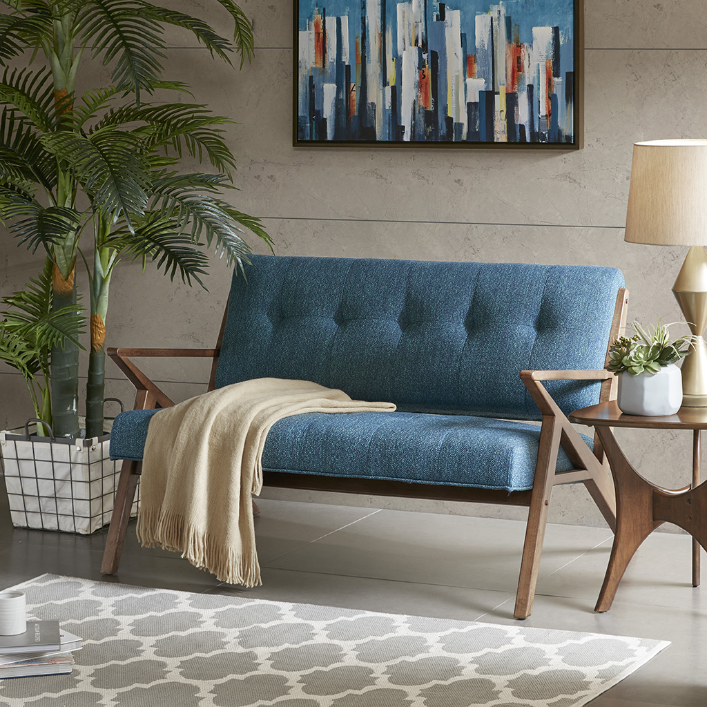 INK+IVY - Rocket Loveseat - Blue - See below