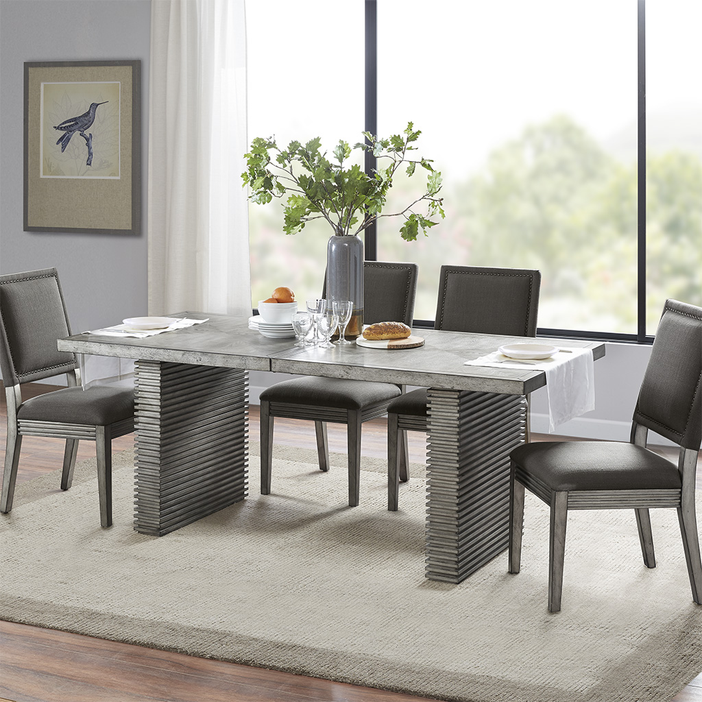 Madison Park - West Ridge Dining Table - Grey - See below