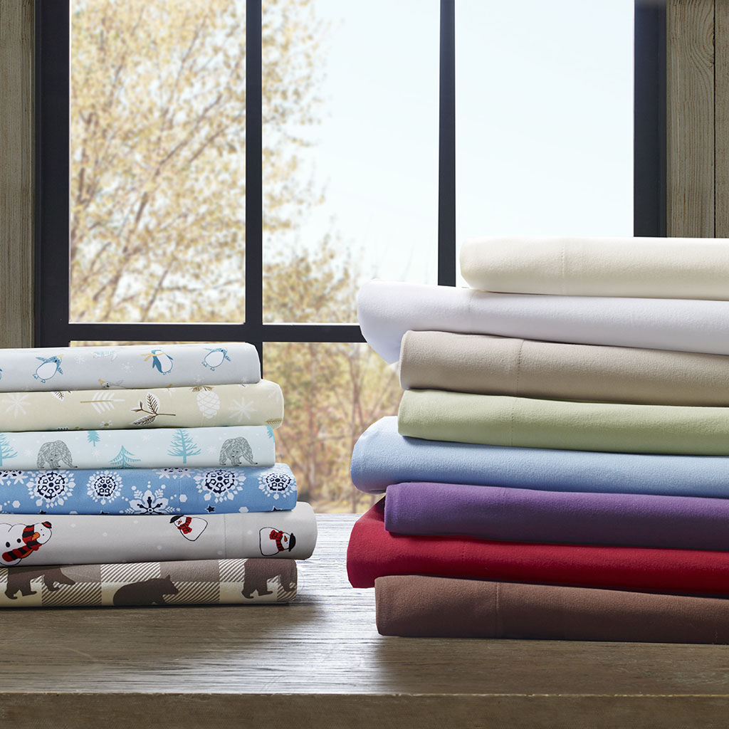 Premier Comfort - Cozyspun All Seasons Sheet Set - Red - King