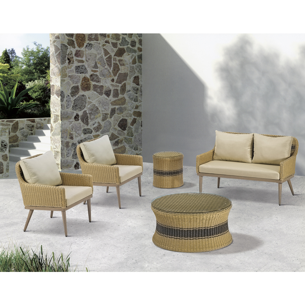 Madison Park - Venice Outdoor Patio End Table - Natural - See below