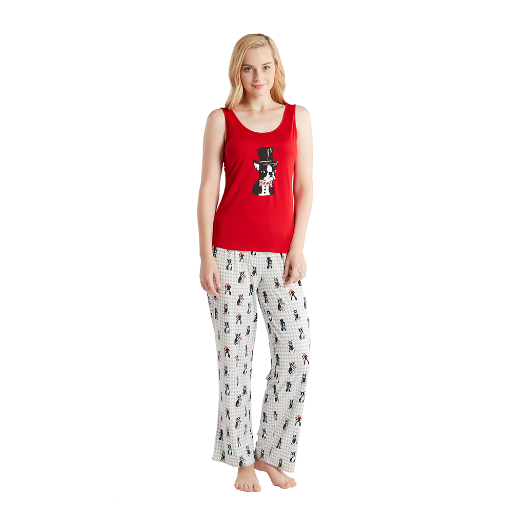 Jammies by Hipstyle - Beatrix 3 Piece Pajama Set - Red - Large