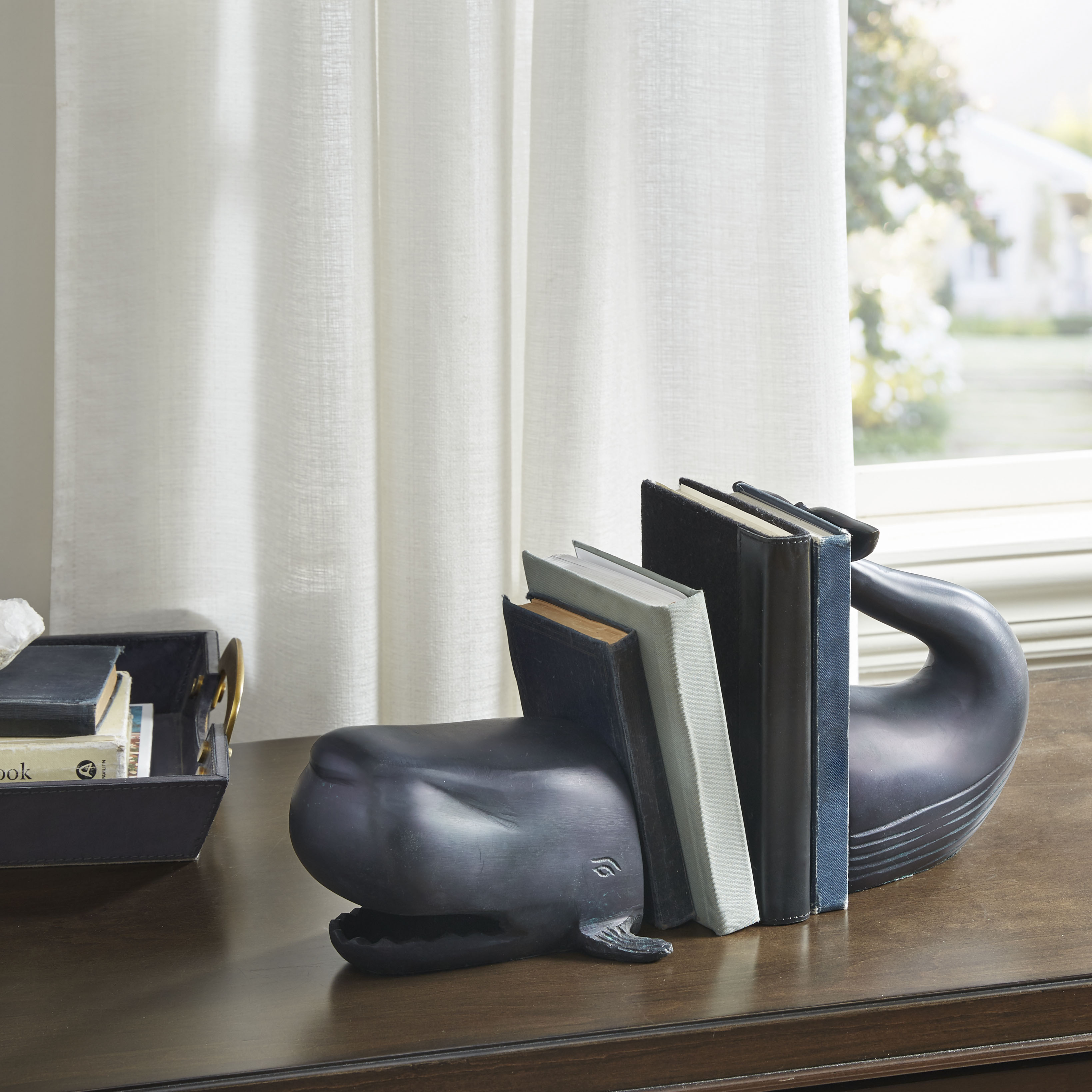 Madison Park - Whale Fish Bookend - Black - See below