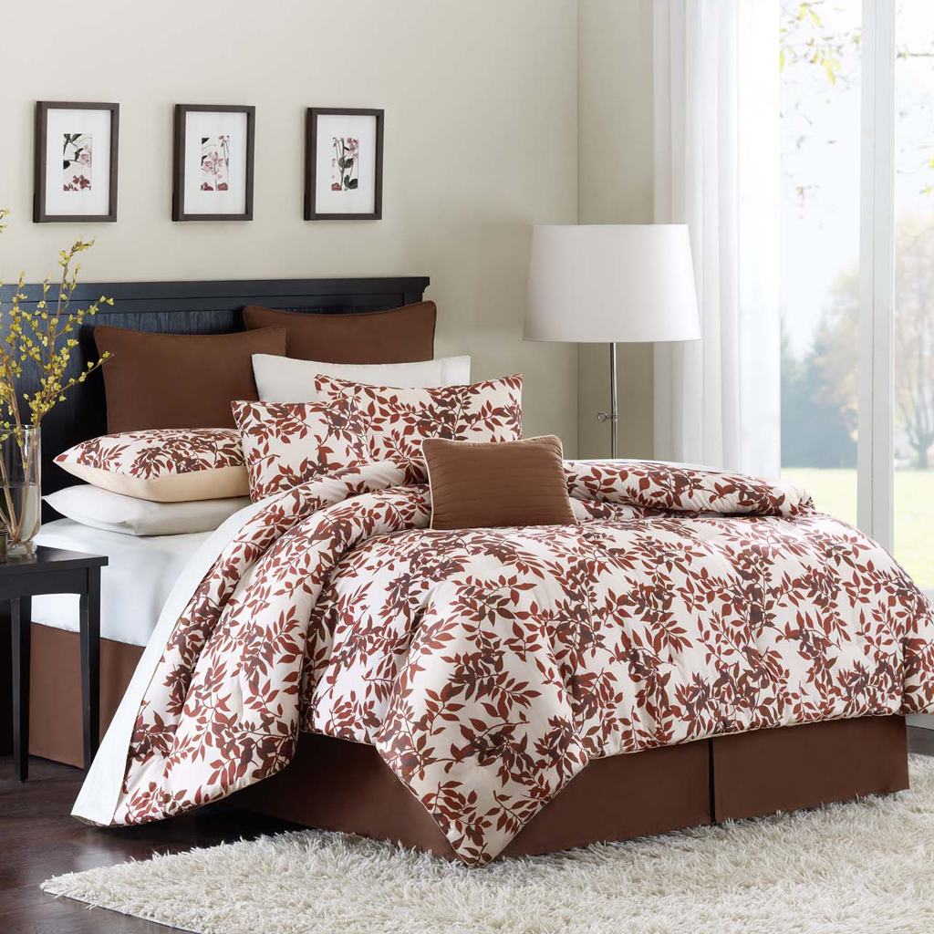 Avenue 8 - Foliage Comforter Set - Red - Twin