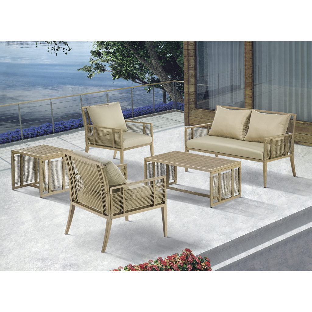 Madison Park - Cassandra Patio End Table - Natural - See below