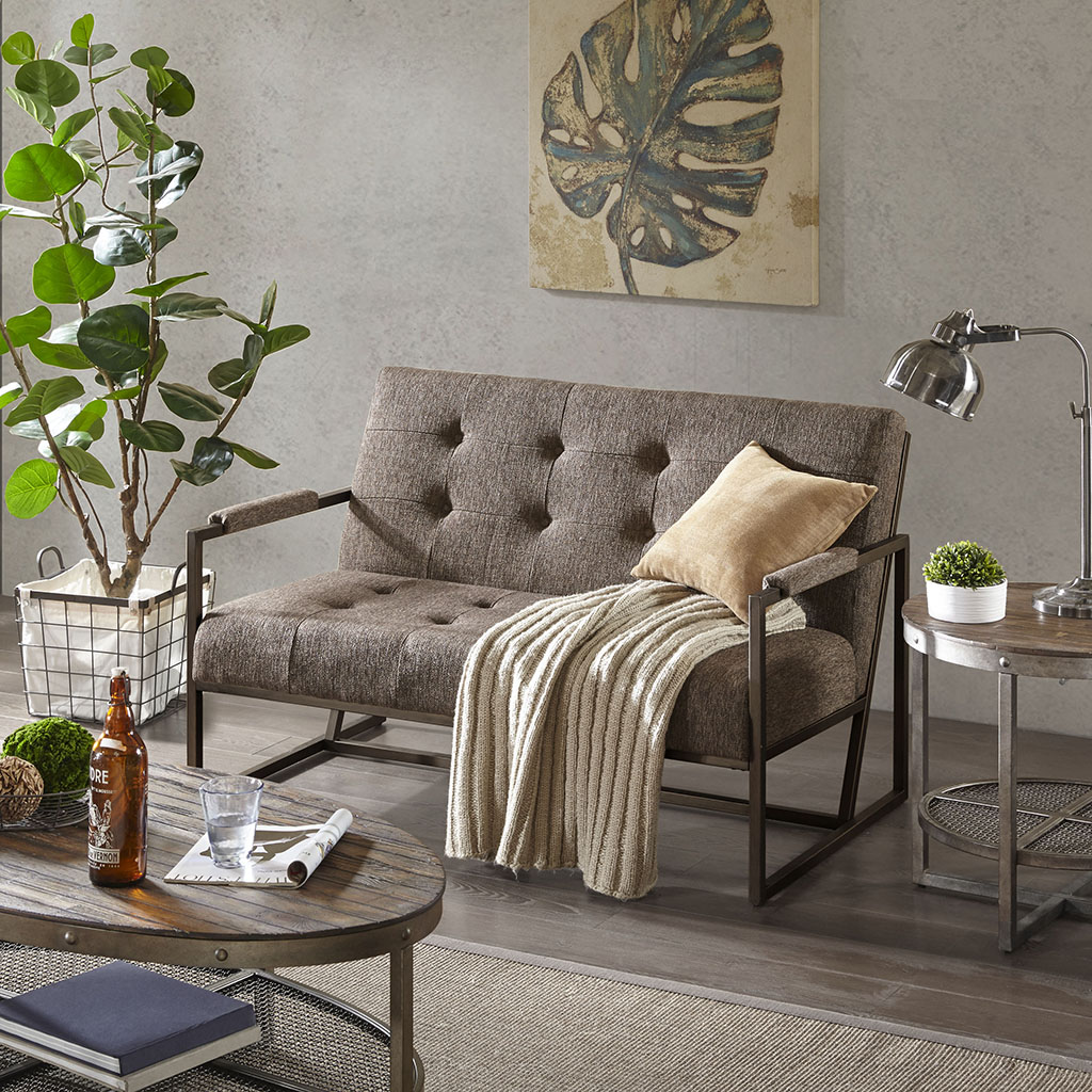 INK+IVY - Waldorf Loveseat - Brown - See below