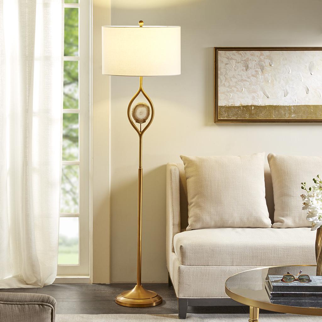 Madison Park - Carla Floor Lamp - Gold - See below
