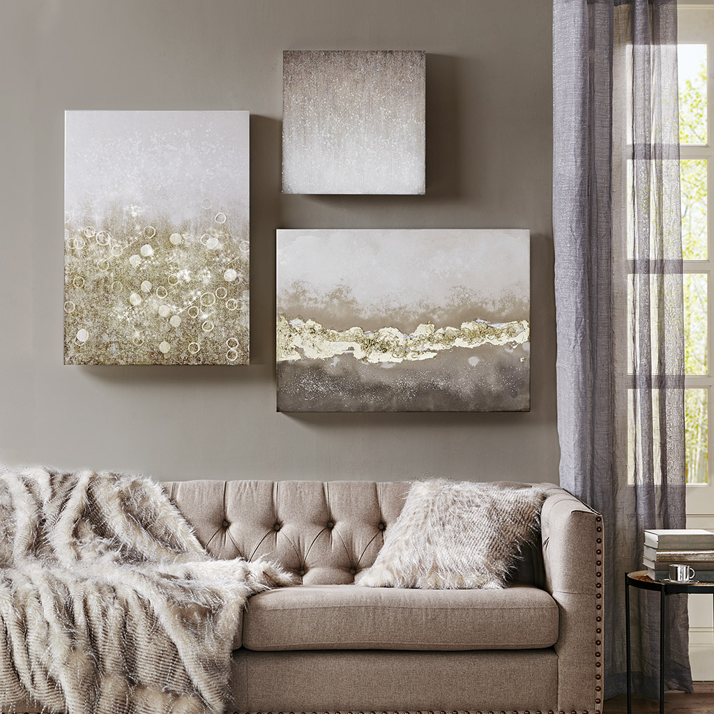Madison Park - Radiant Impression Hand Embellished Gallery Art Set of 3 - Multi - See below