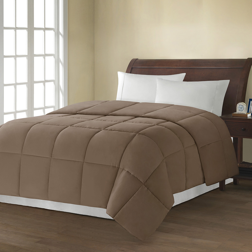 Avenue 8 - MS Down Alternative Comforter Comforter - Brown - King
