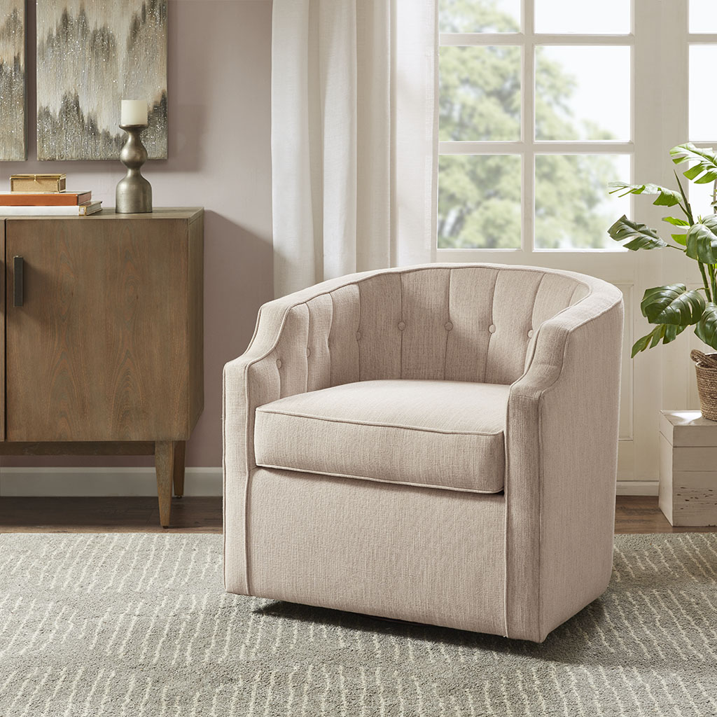Madison Park - Madison Park Daffodil Swivel Glider Chair - Blush - See below