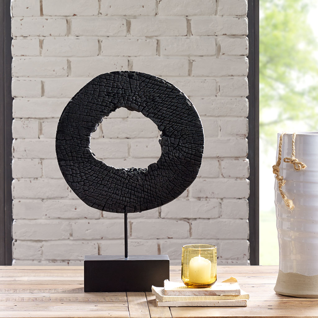 INK+IVY - Russo Wood Decor - Black - Medium Material: Mango Wood, Iron