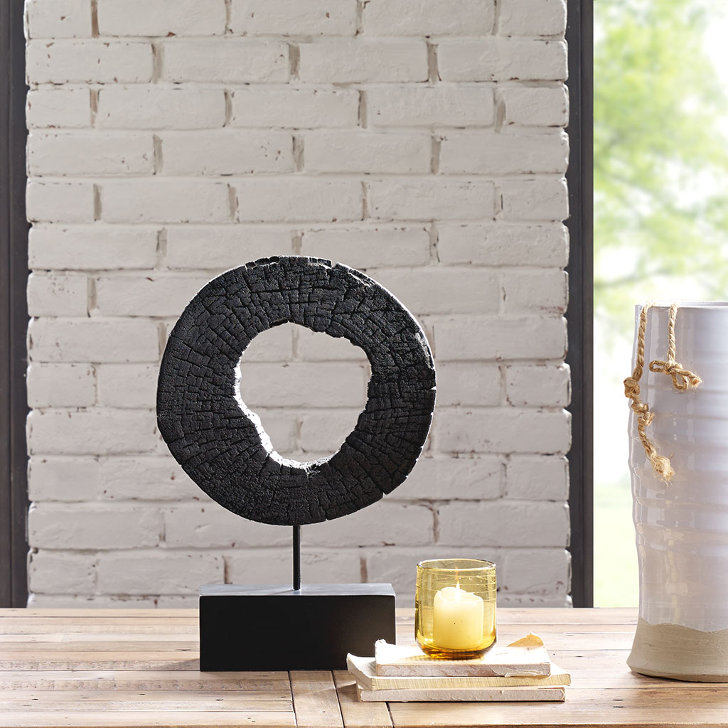 INK+IVY - Russo Wood Decor - Black - Small Material: Mango Wood, Iron