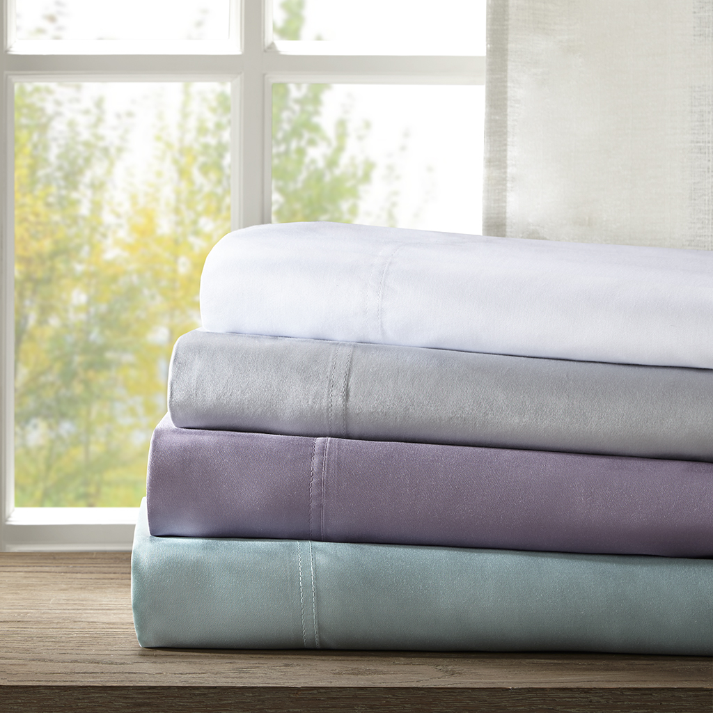 Sleep Philosophy - Rayon from Bamboo Sheet Set - White - Cal King
