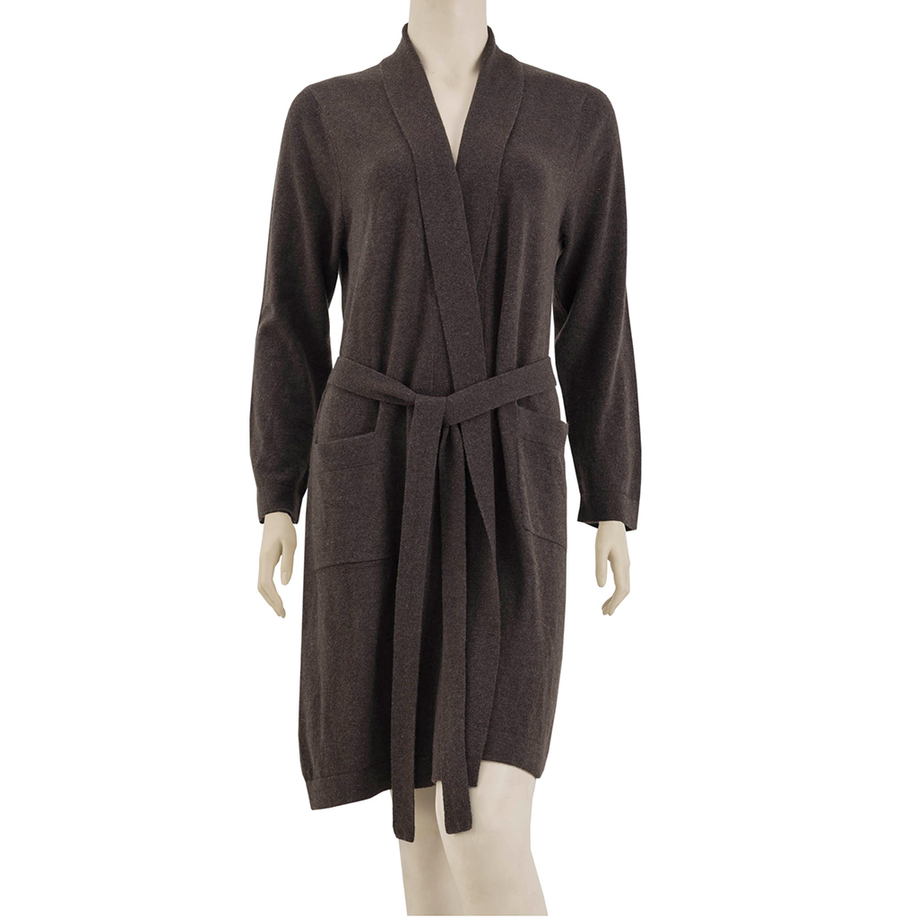Madison Park Signature - Luxury Cashmere Robe - Brown - L/XL