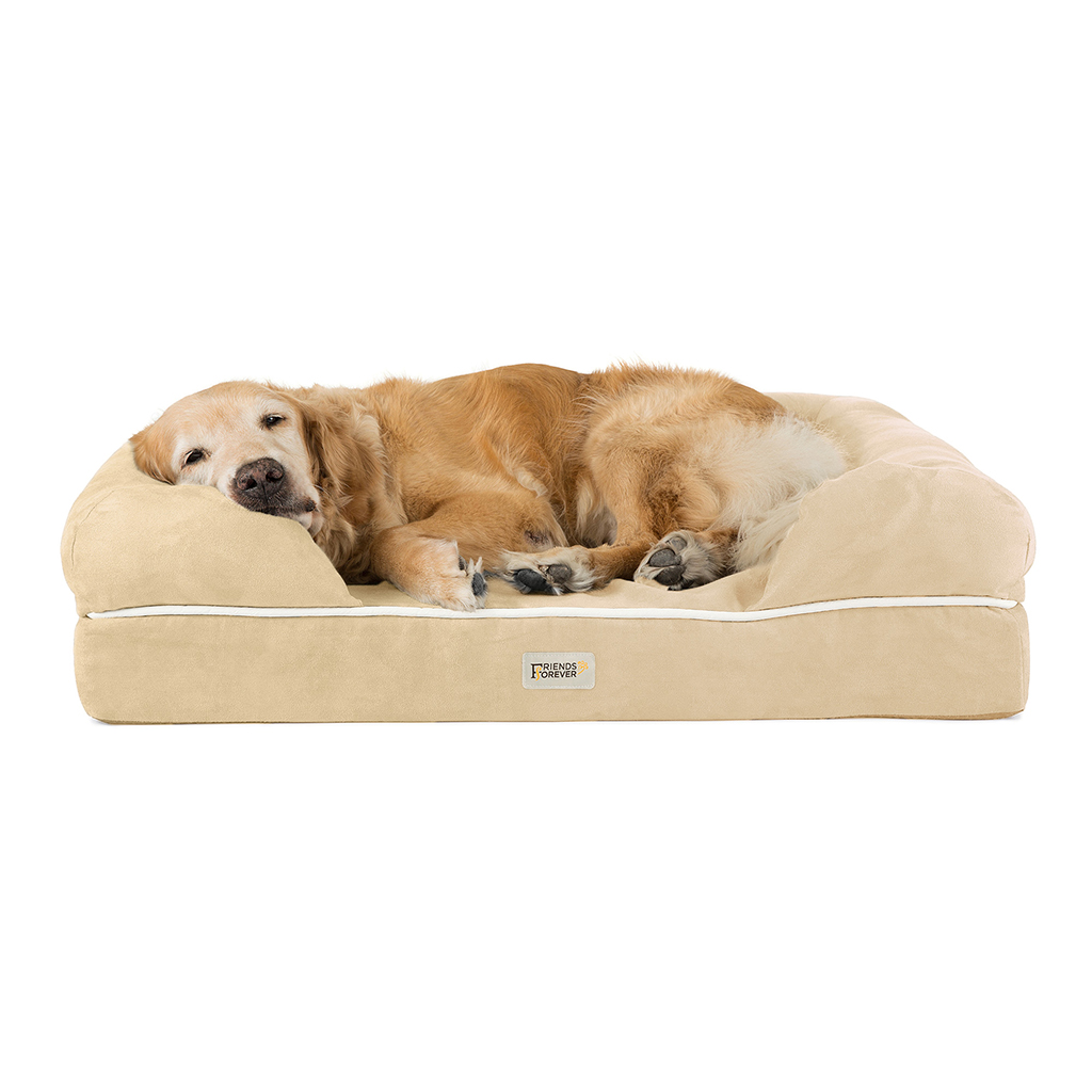 Friends Forever - Chester Pet Couch with Solid Memory Foam - Vanilla - 44x34+10