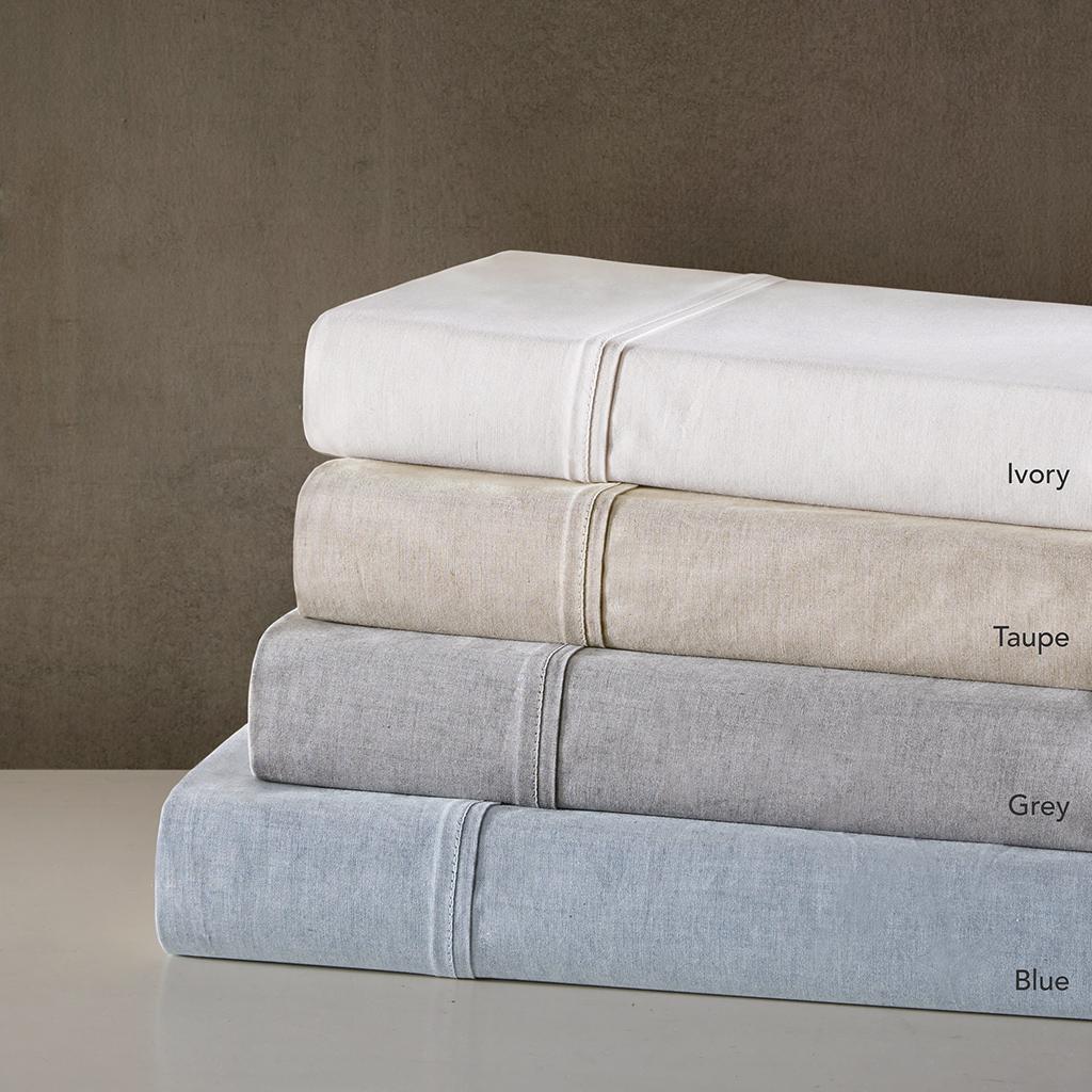 Urban Habitat - Fiber Dyed Cotton Sheet Set - Grey - Full