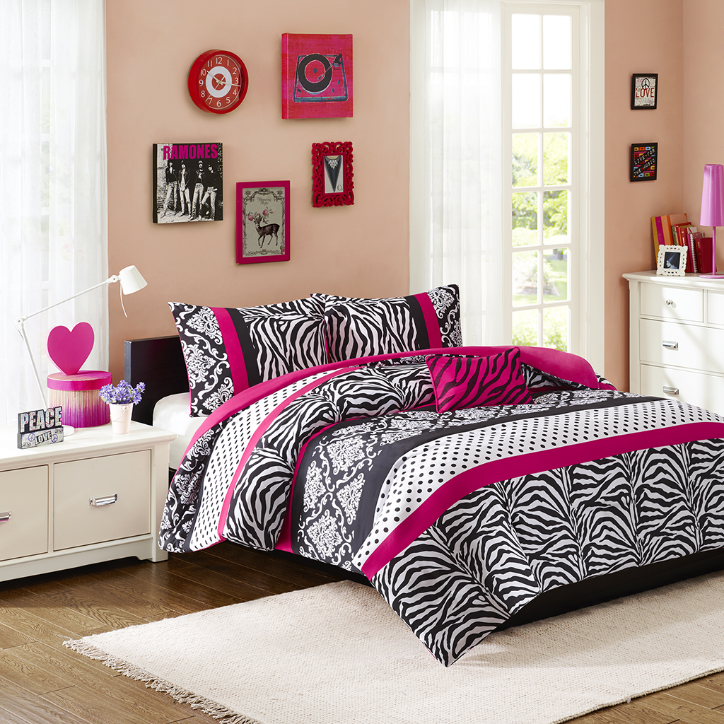 Mi Zone - Reagan Duvet Cover Set - Pink - King/Cal King