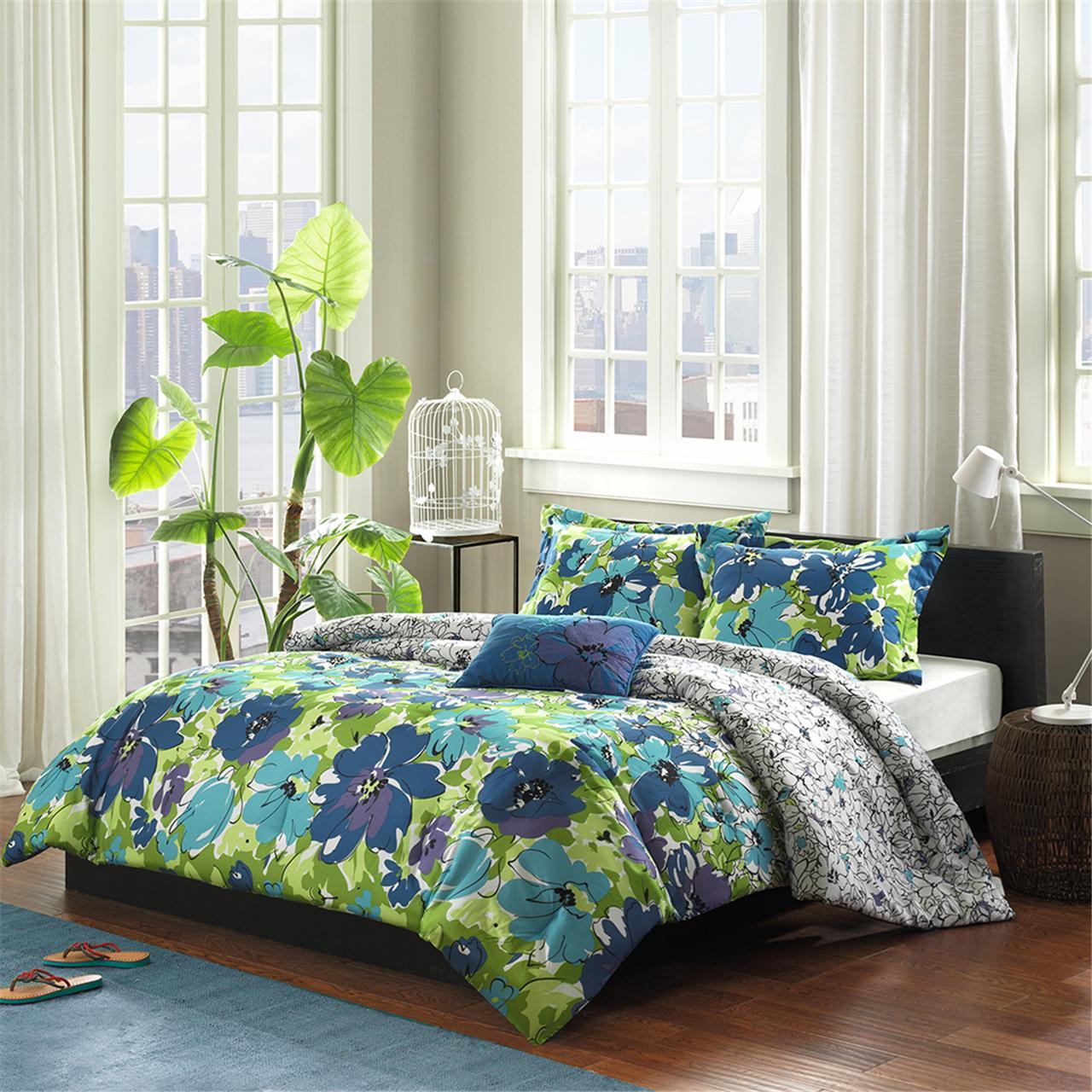 Mi Zone - Jayna Comforter Set - Blue - Twin/Twin XL