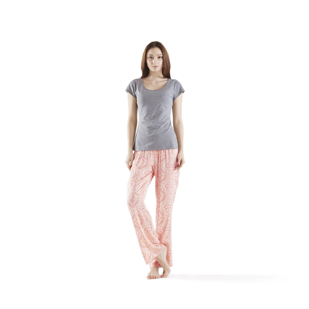 INK+IVY - Pedra Pajama Pants Set - Coral - Small