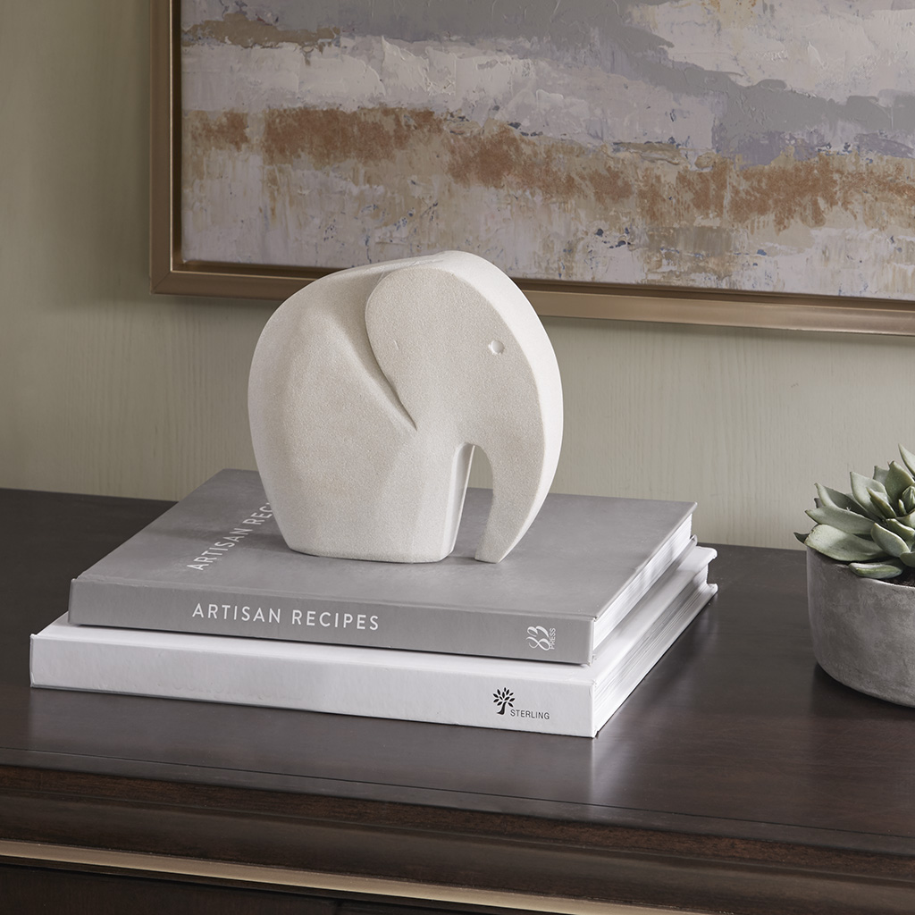 Madison Park - Elephant Decor - Grey - Medium Sand Stone