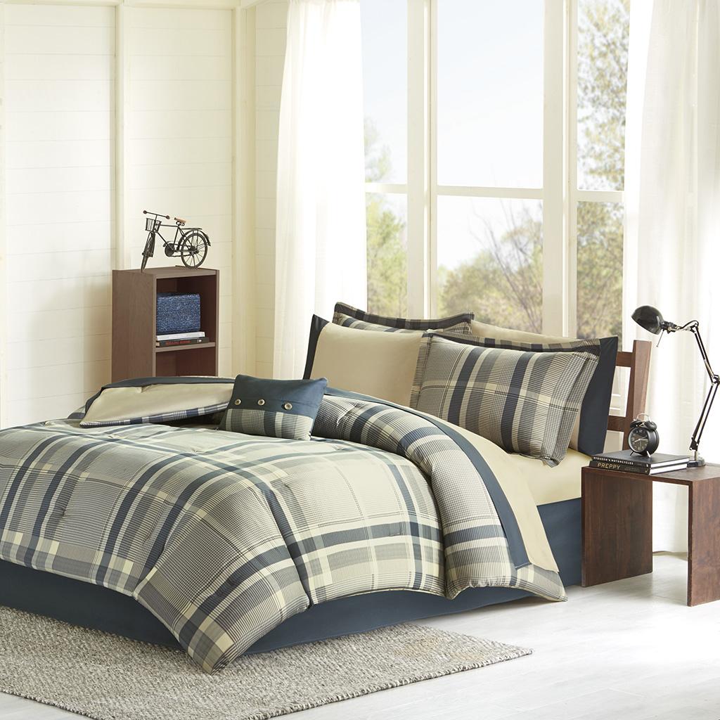 Intelligent Design - Robbie Comforter and Sheet Set - Navy Multi - Twin XL