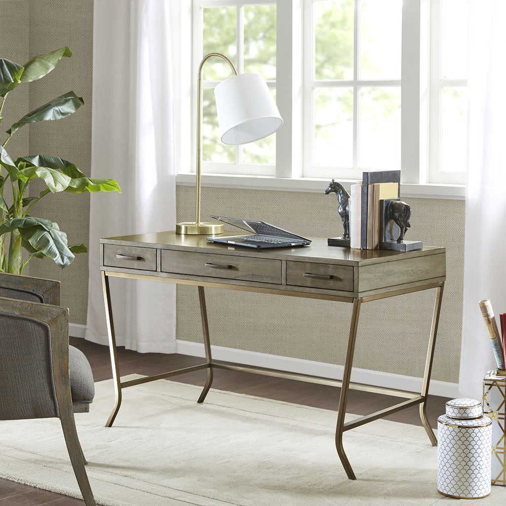 Madison Park - Clausen Writing Desk - Grey - See below