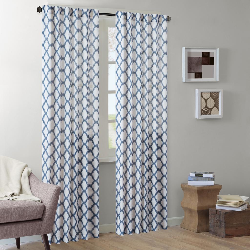"INK+IVY - Nakita Window Curtain - Indigo - 95"" Panel"