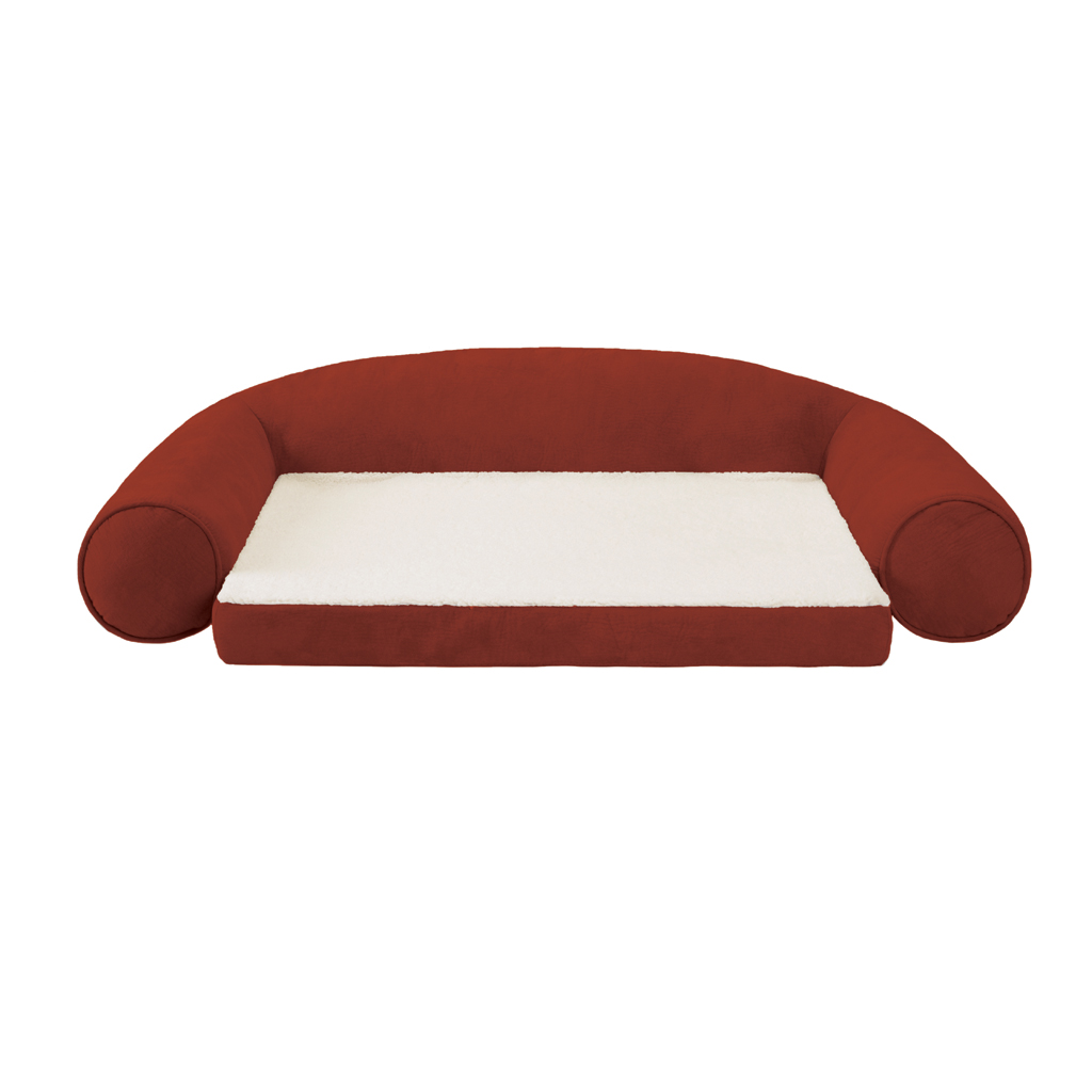 Soft Touch - Futon Bolster Pet Bed Futon Bolster Pet Bed - Red - See below