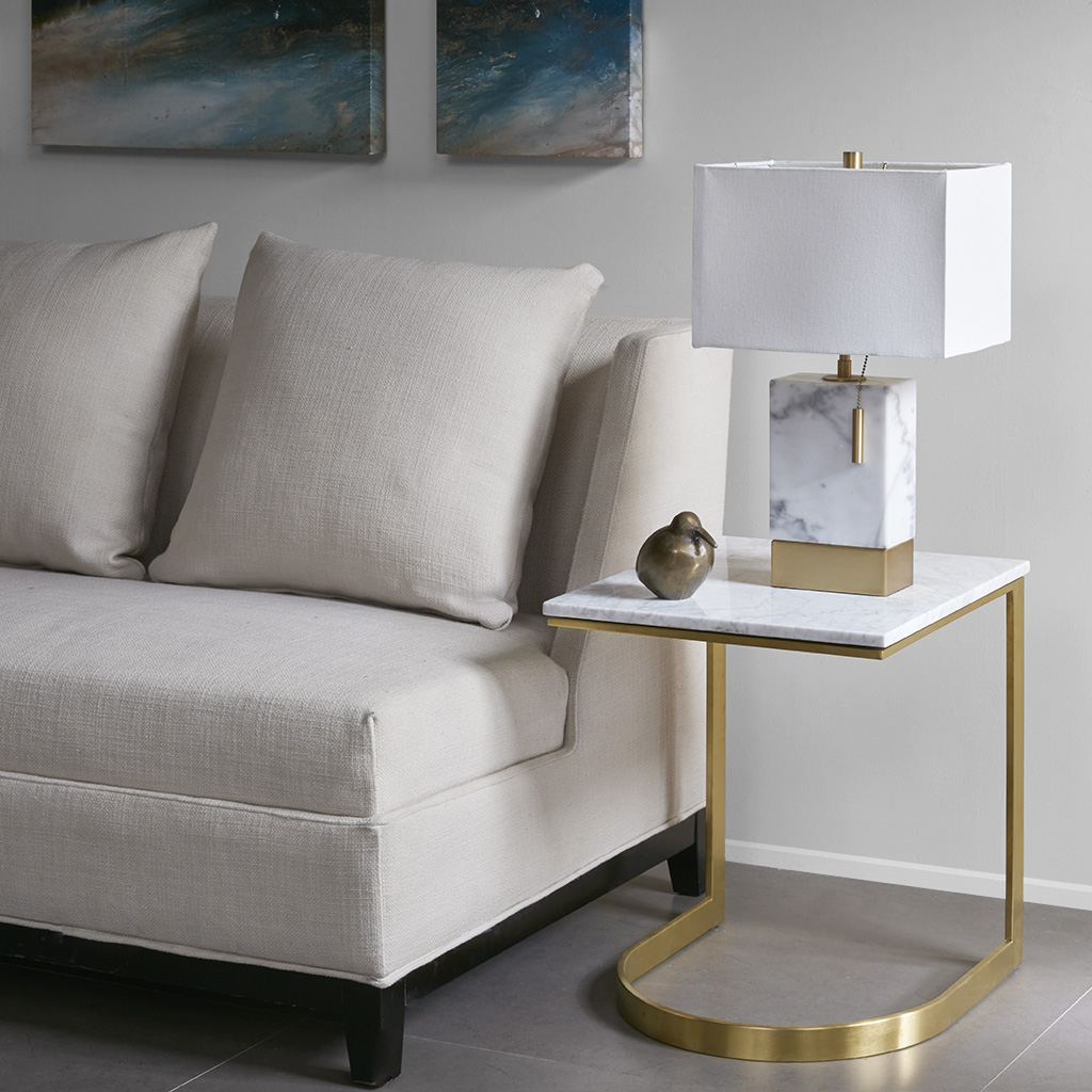 Madison Park - Rockport End Table - Marble/Gold - See below
