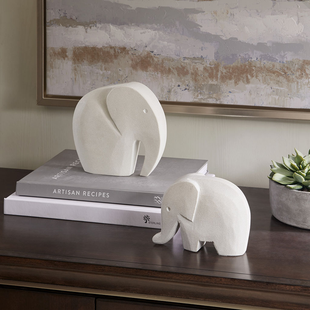 Madison Park - Elephant Decor - Grey - Small Sand Stone