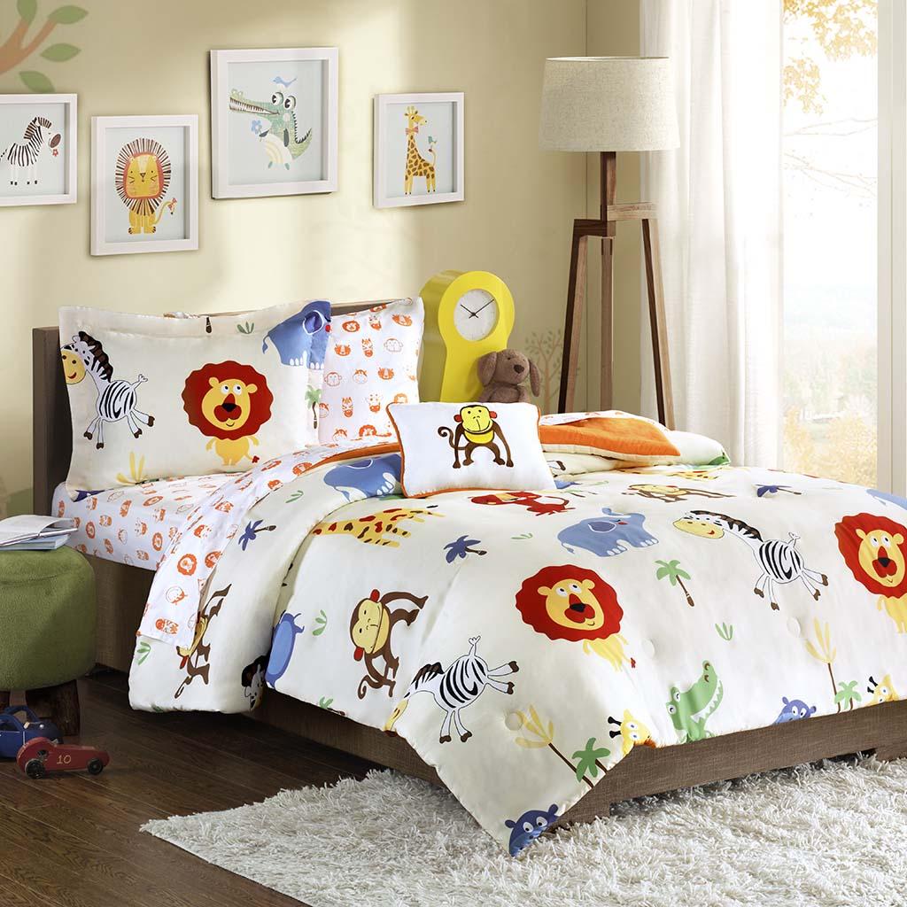 Mi Zone Kids - Safari Sam Complete Bed and Sheet Set - Multi - Twin