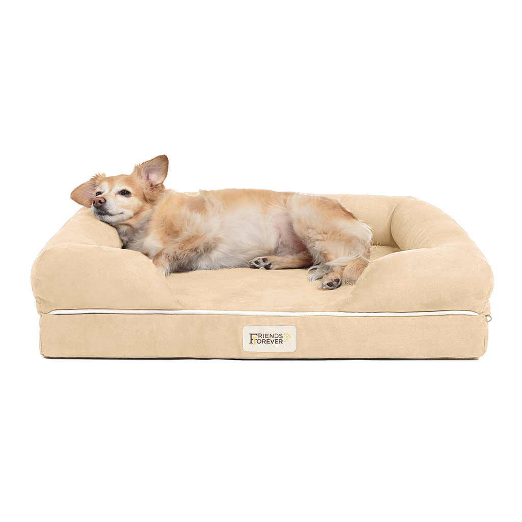 Friends Forever - Chester Pet Couch with Solid Memory Foam - Vanilla - 25x20+5