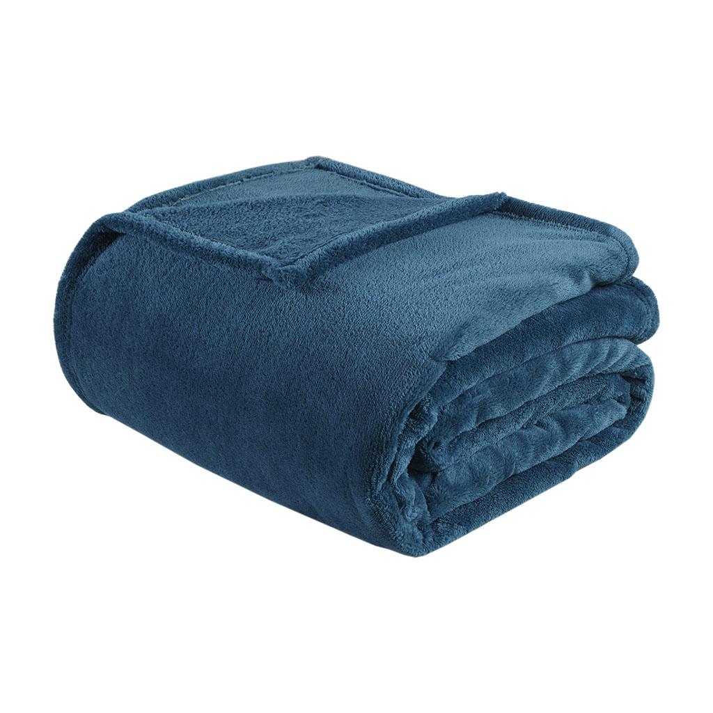 Intelligent Design - Microlight Plush Oversized Blanket - Teal - King