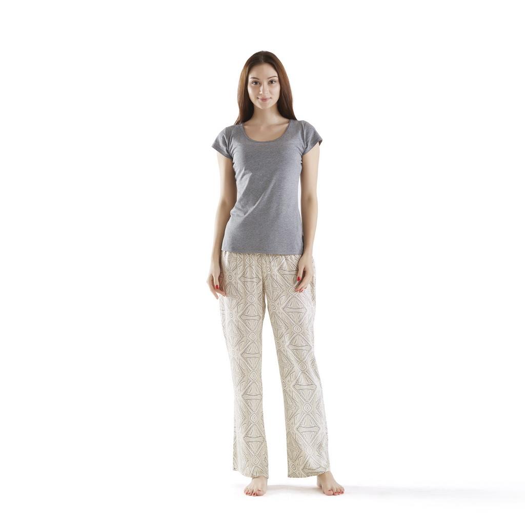 INK+IVY - Pedra Pajama Pants Set - Tan - Large